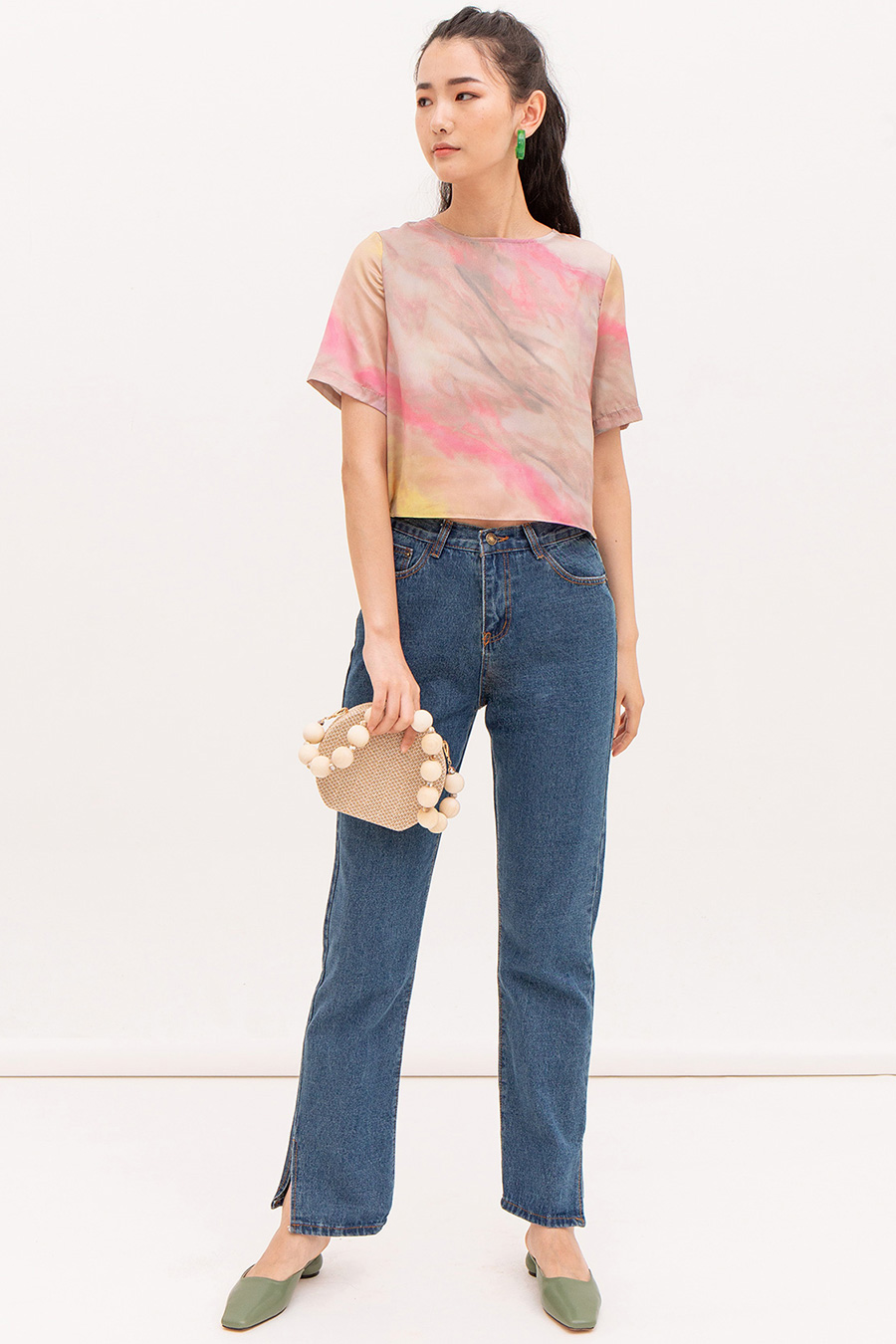 *SALE* LAURENT TOP - TIEDYE