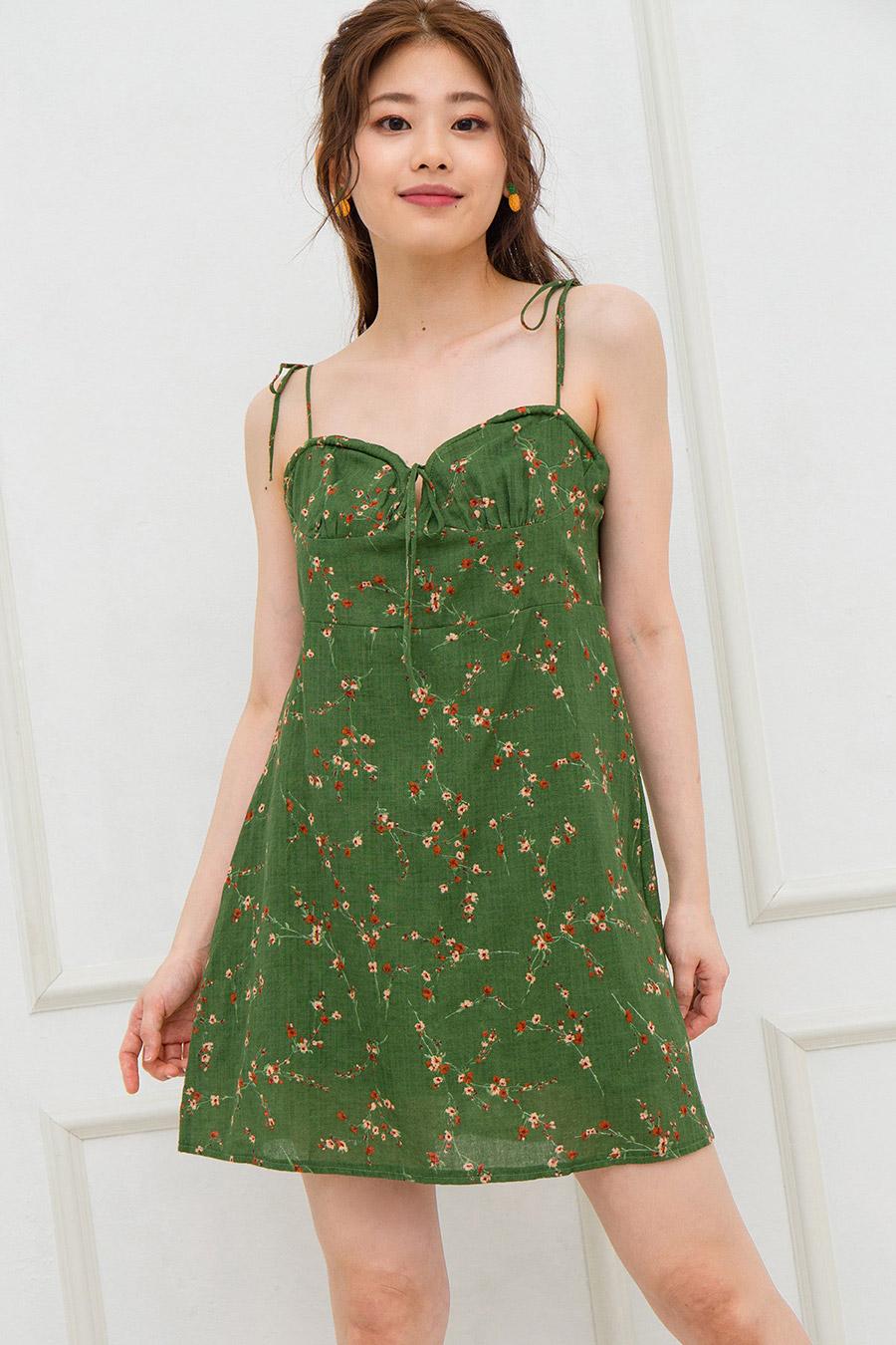 LAURINE DRESS - FOREST FLEUR