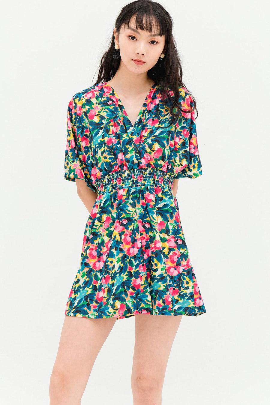 LEAH DRESS - CAPRI FLEUR