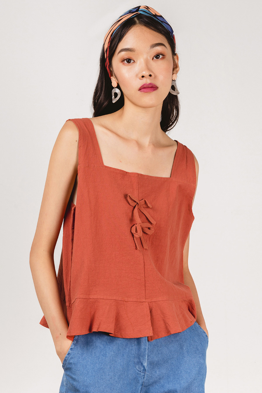 LECIA TOP - FADED ROSE
