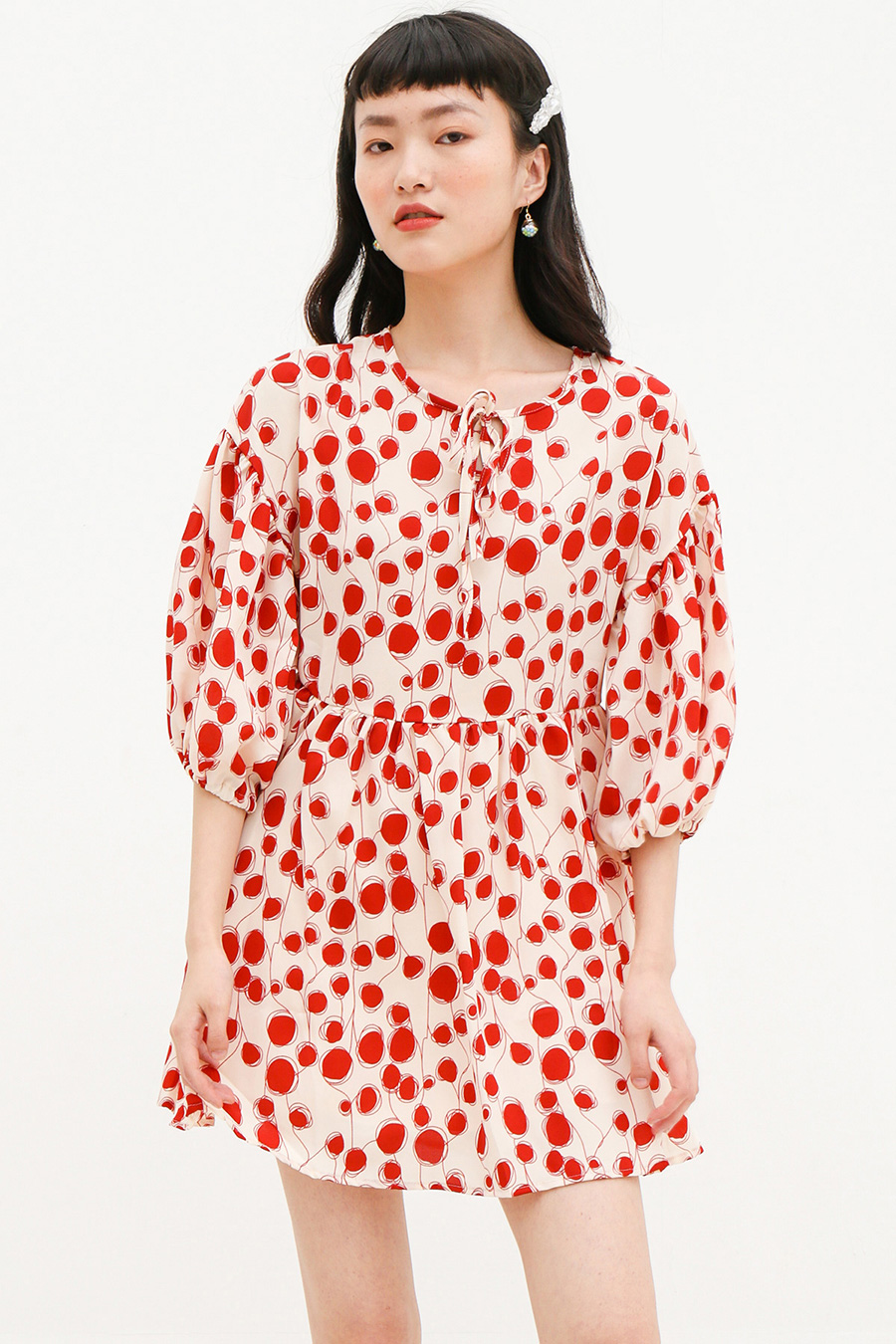 LECLAIR DRESS - RED CELLS