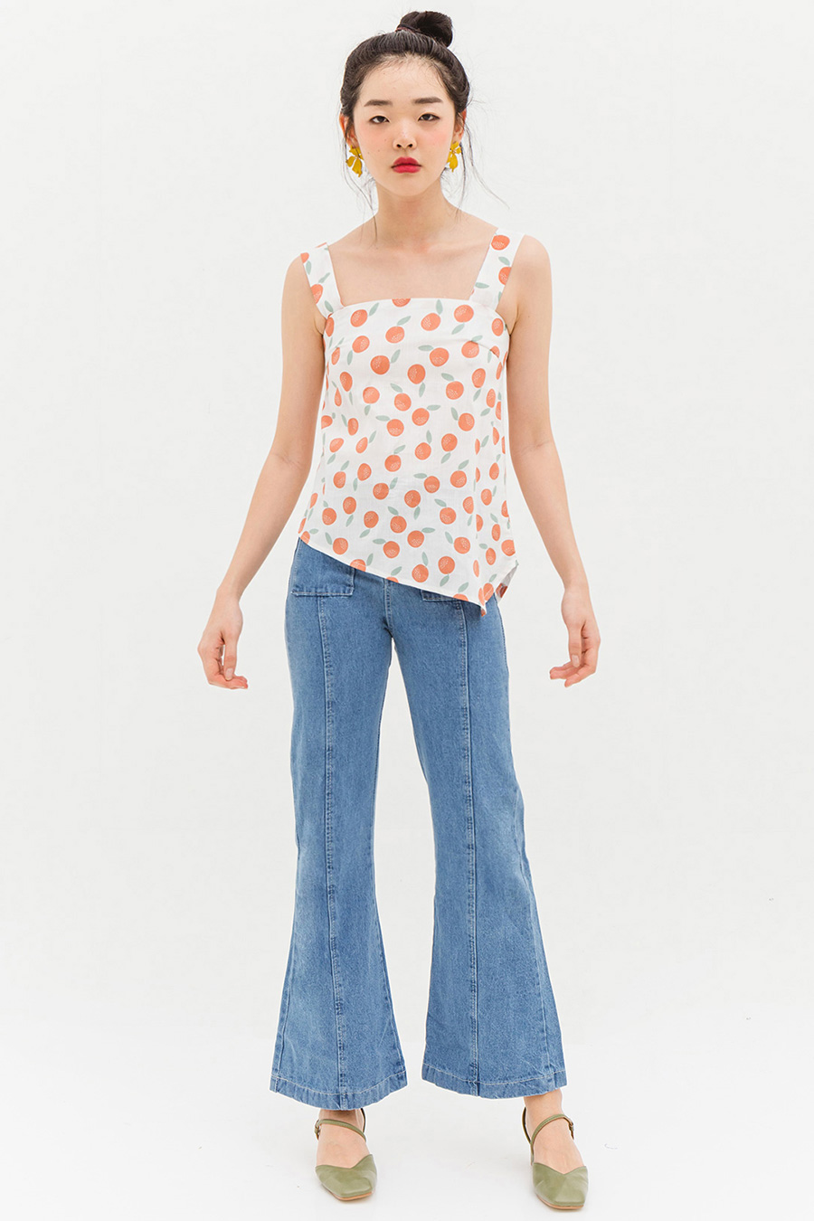 LEIGH TOP - TANGERINE [BY MODPARADE]