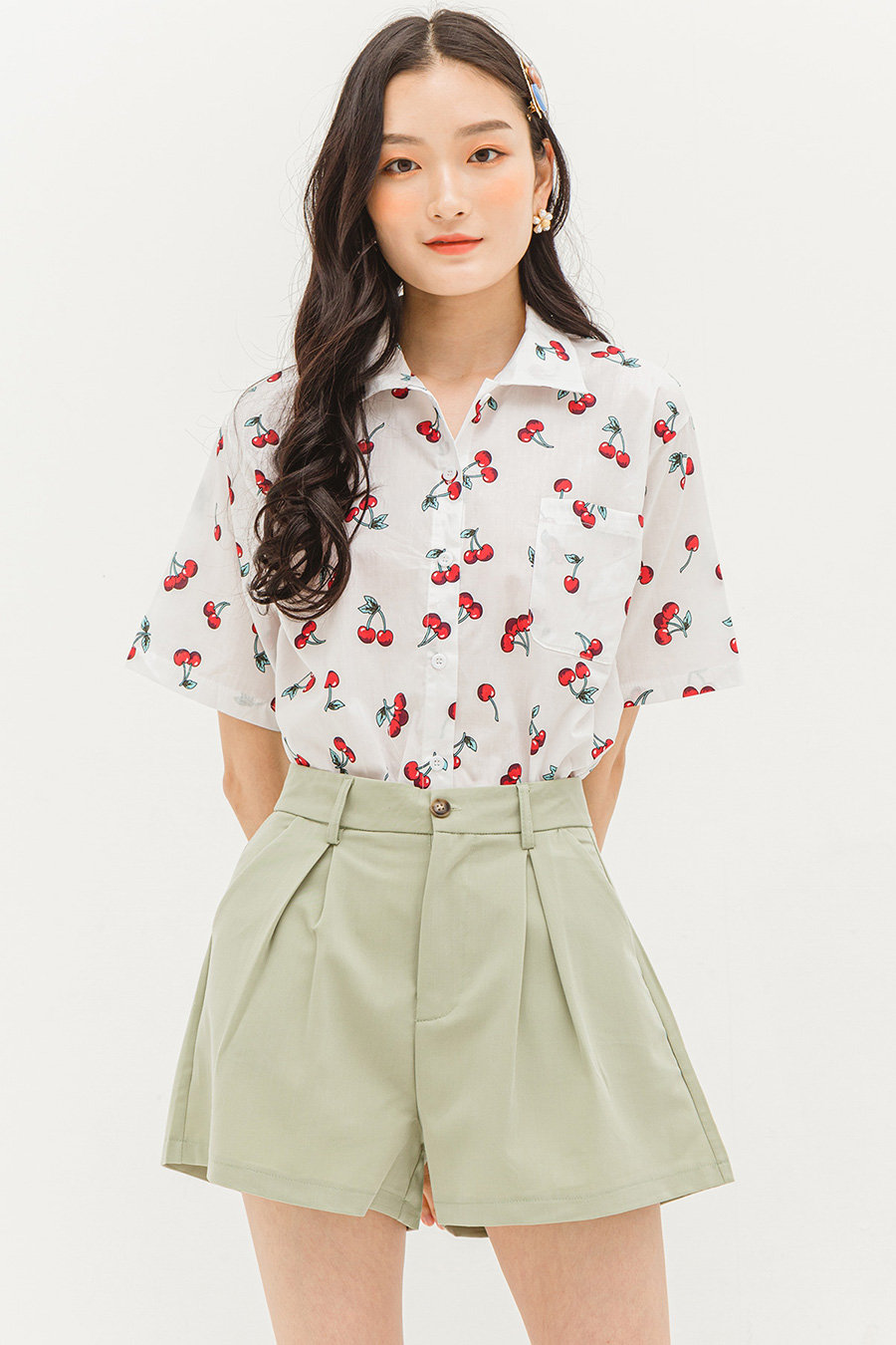 LELA TOP - CHERRY