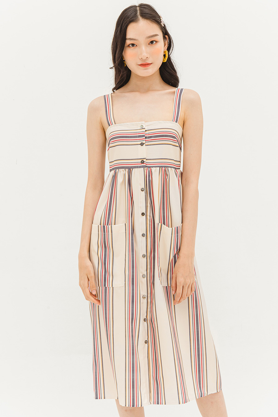 LENA DRESS - PEPE STRIPE