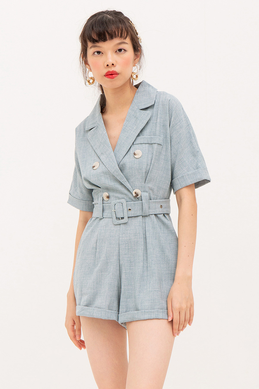 *RESTOCKED* DEON PLAYSUIT - POWDER