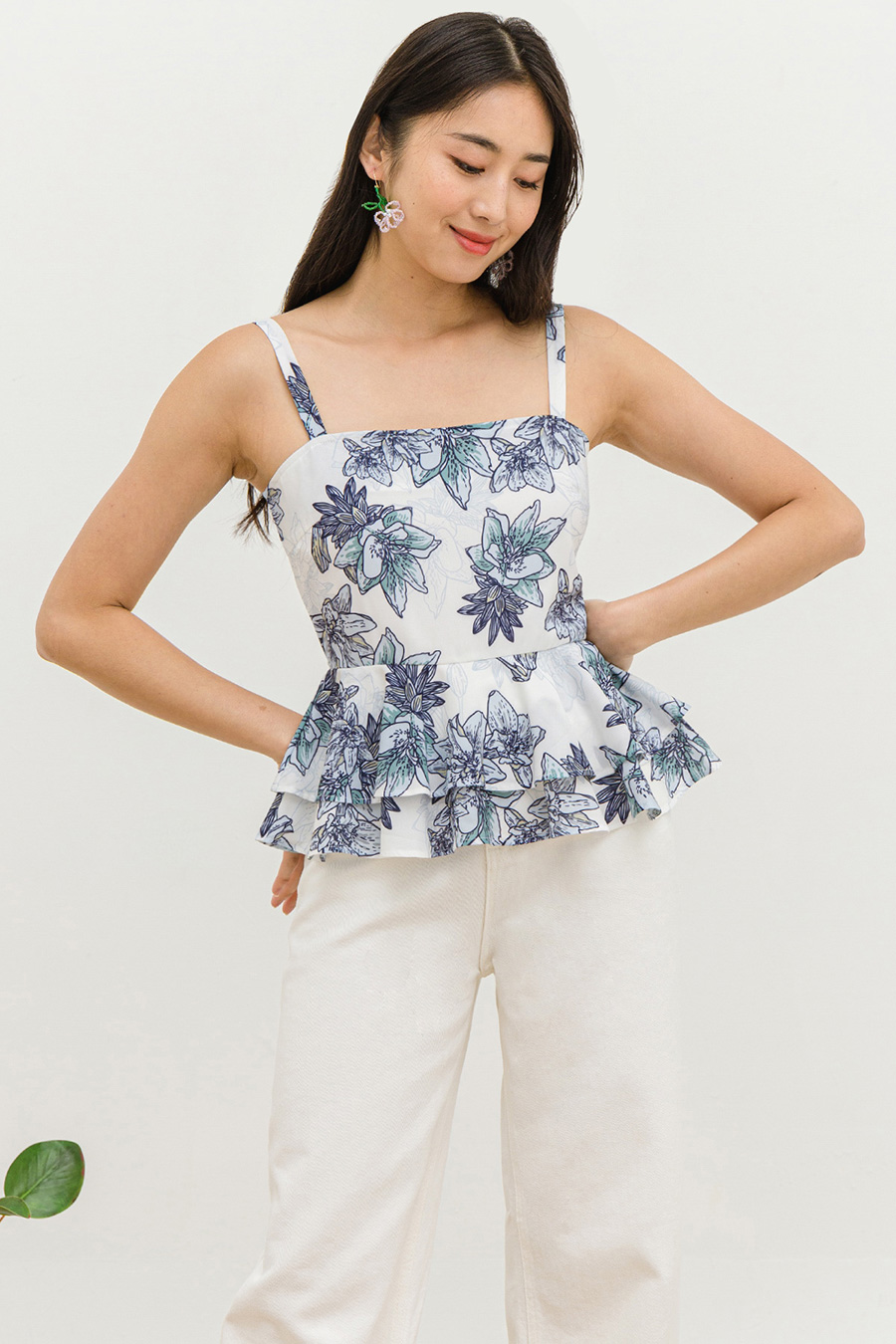 *SALE* LEONE TOP - DAYLIGHT LOTUS [BY MODPARADE]