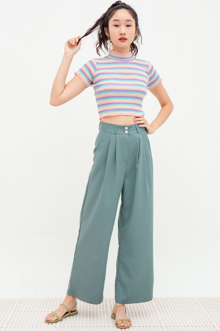 *BO* LILIANE PANTS - SEA FOAM