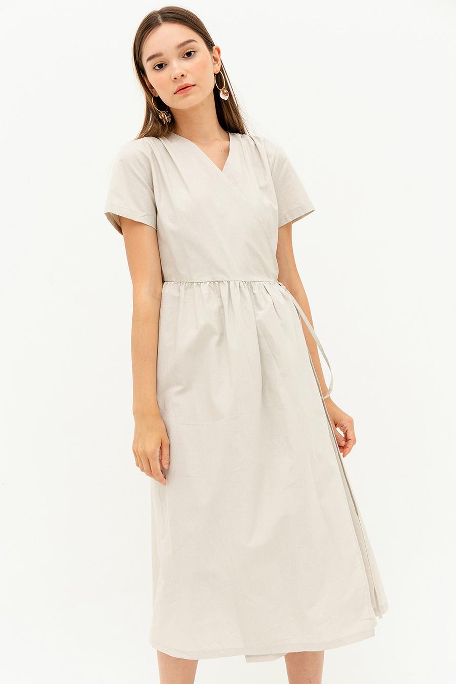 LILYANA DRESS - BISCOTTI