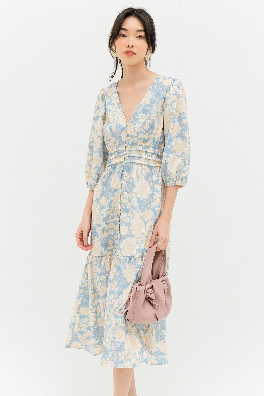 *RESTOCKED* LINDEN DRESS - REGENT FLEUR