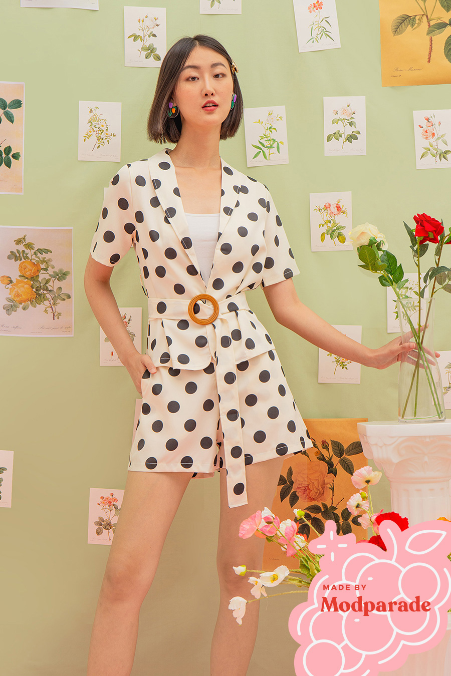 LOIS OUTERWEAR - IVORY DOTTY [BY MODPARADE]