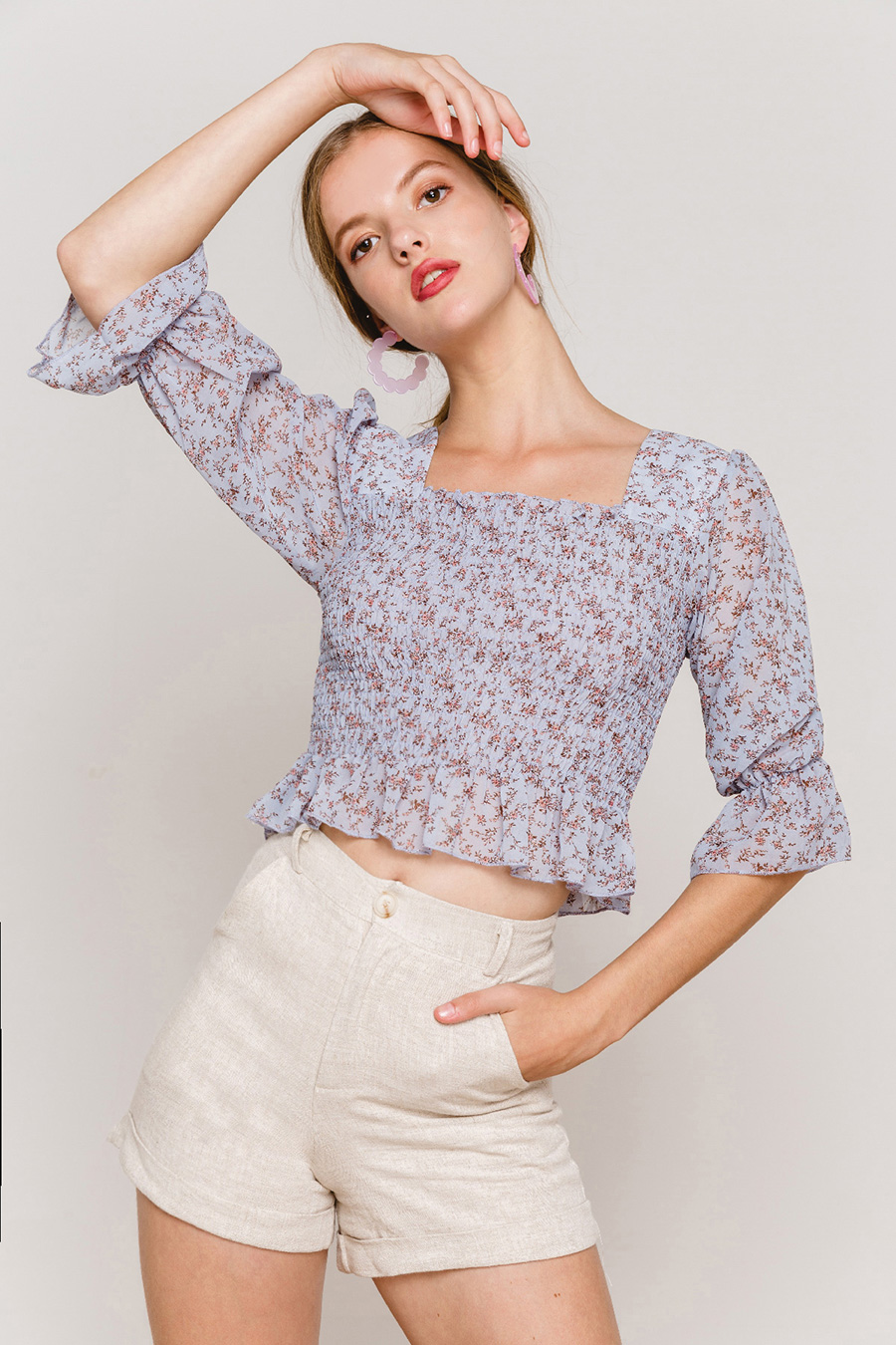 *RESTOCKED* LOLA TOP - HYACINTH