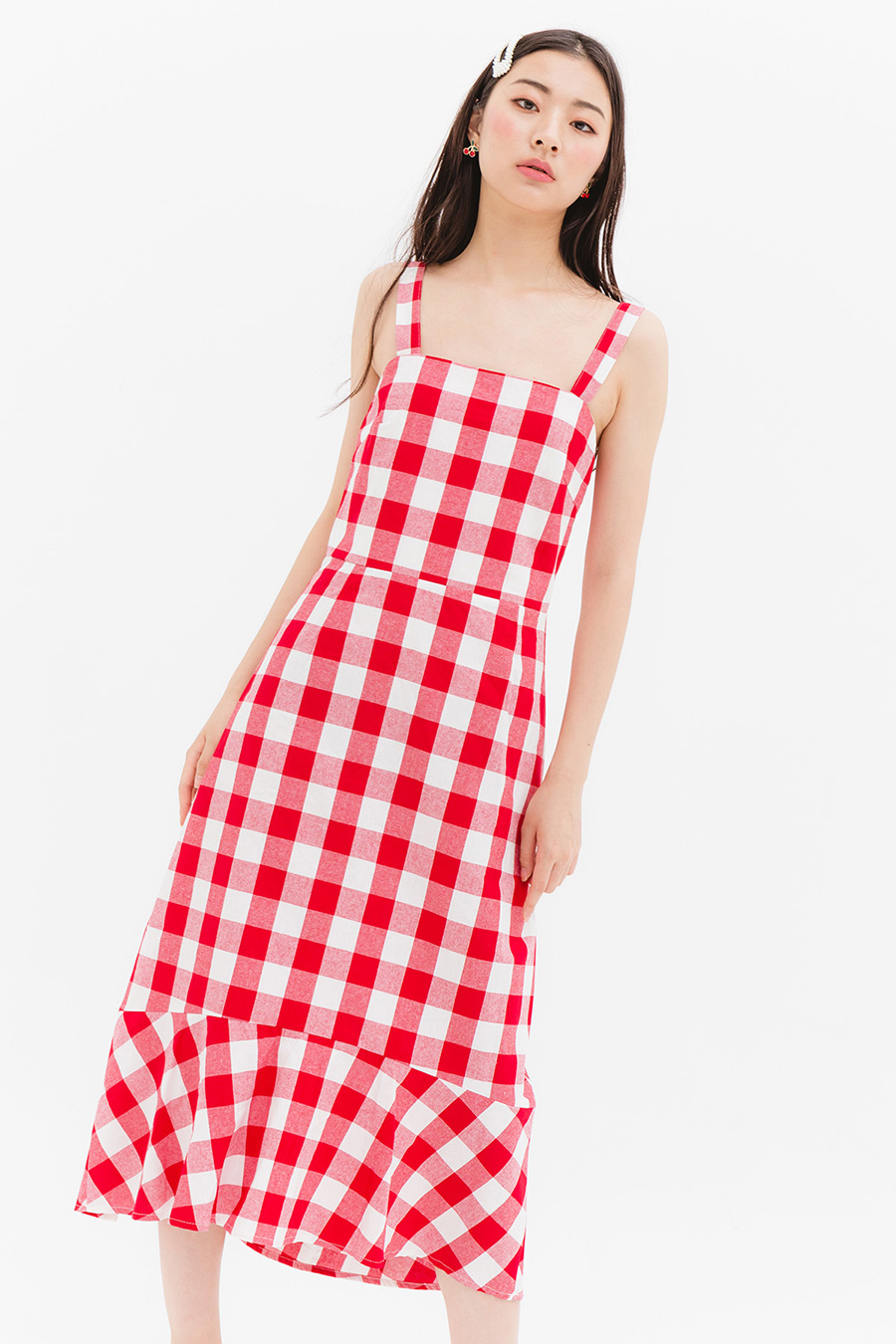 LOMITA DRESS - CHERRY HAM