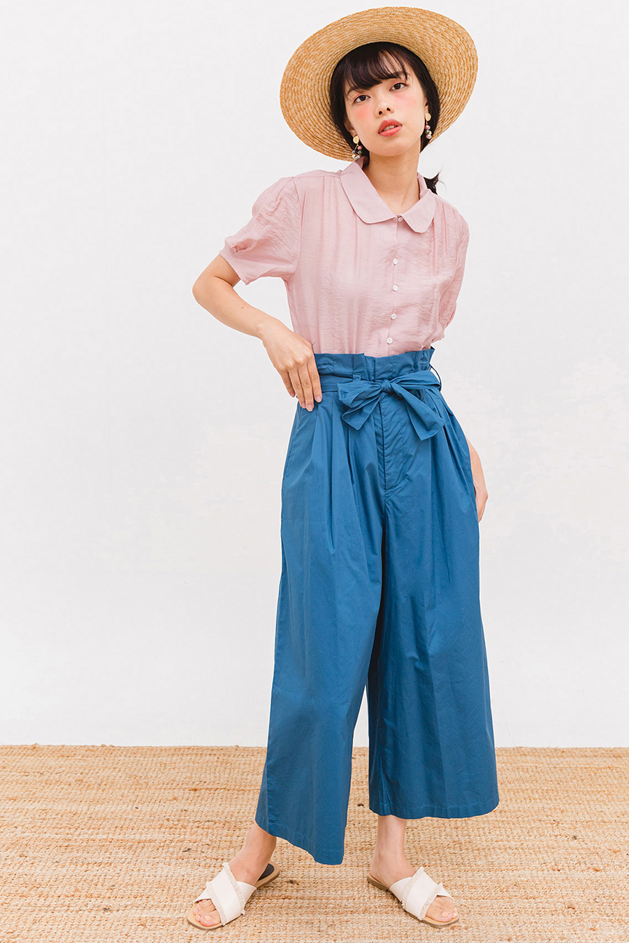LOQUE FLARE PANTS - SEA BLUE