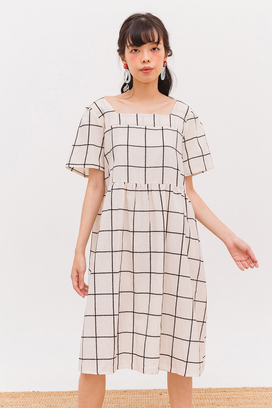 LOU MIDI DRESS - SALT CHECK
