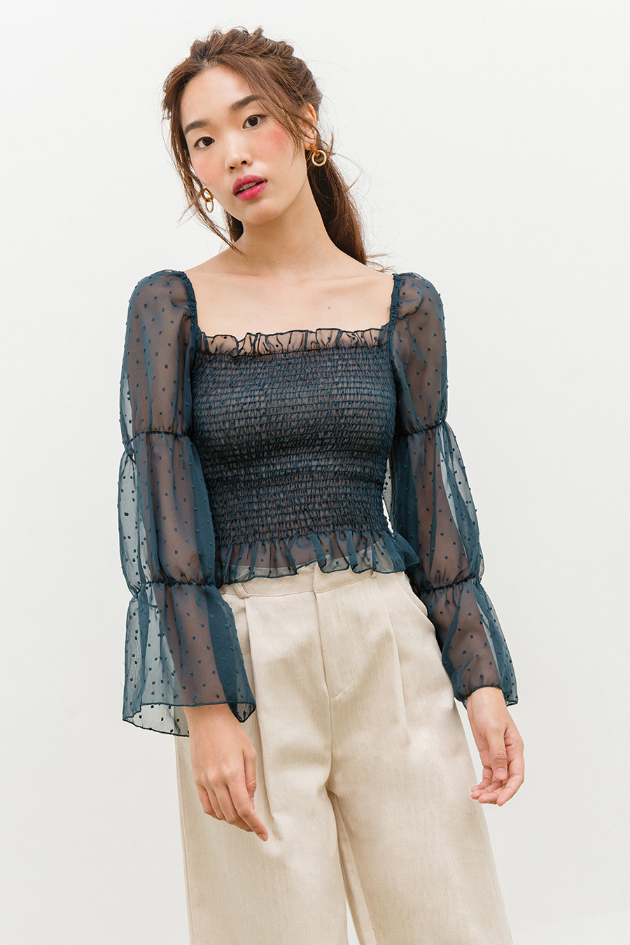 *RESTOCKED* LUCA TOP - MIDNIGHT AZURE