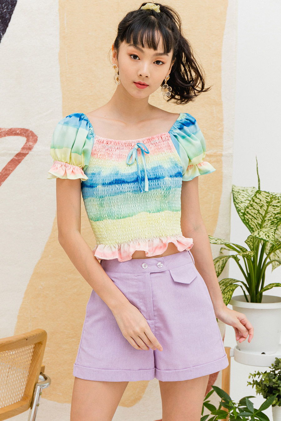 *SALE* LUCIE TOP - RAINBOW