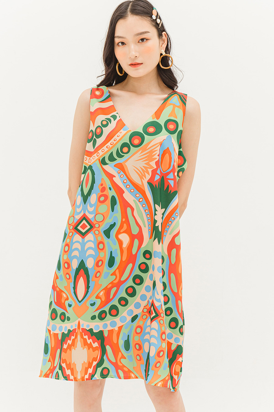 *BO* LYDIA DRESS - PSYCHEDELIC