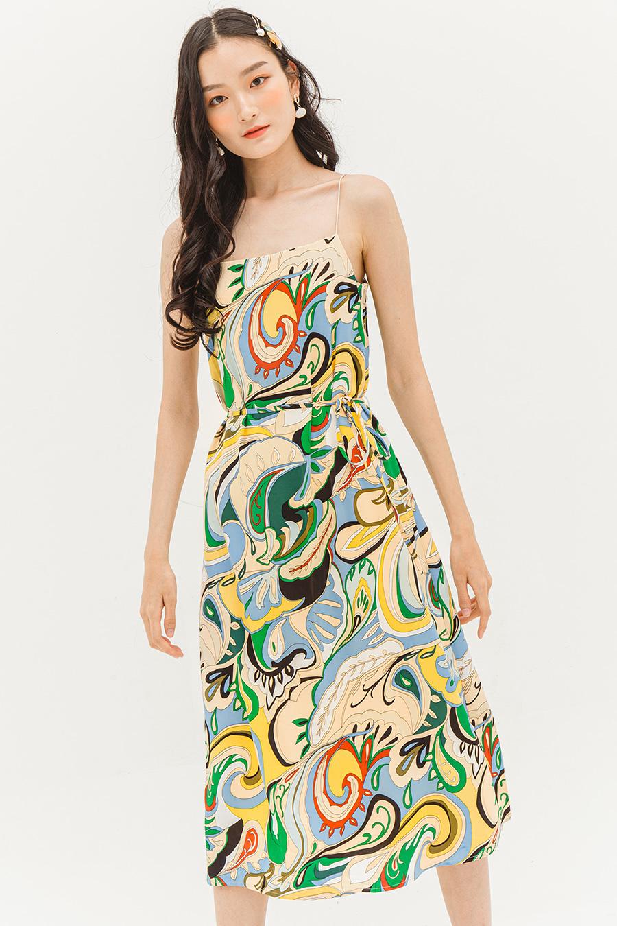 LYNETTE DRESS - SWIRLY