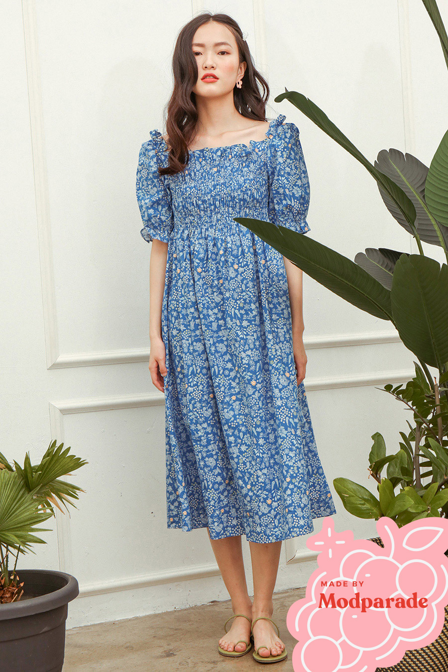 MAEVI DRESS - MEADOW [BY MODPARADE]