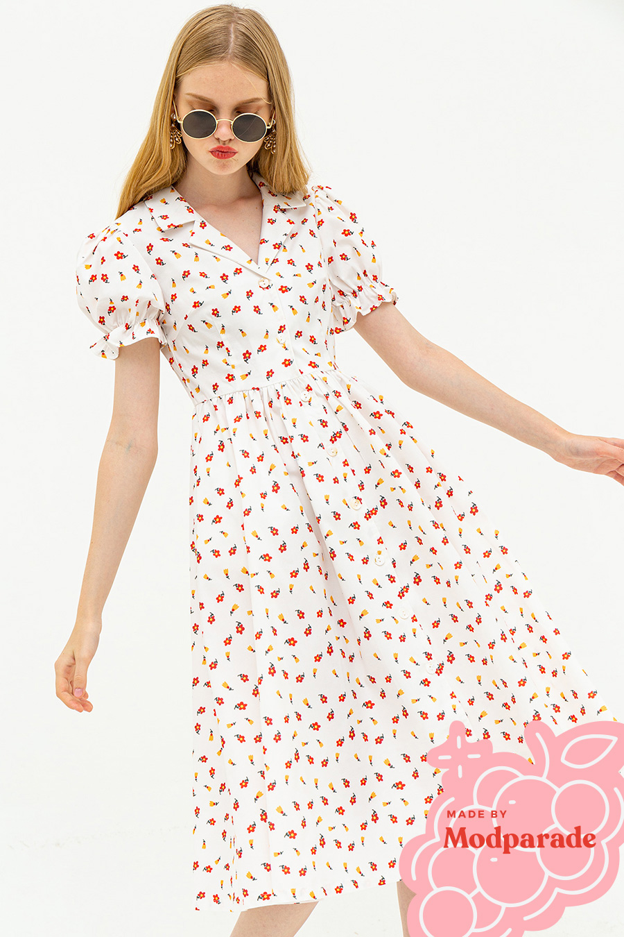 *RESTOCKED* MAGDALENE DRESS - POPPY [BY MODPARADE]
