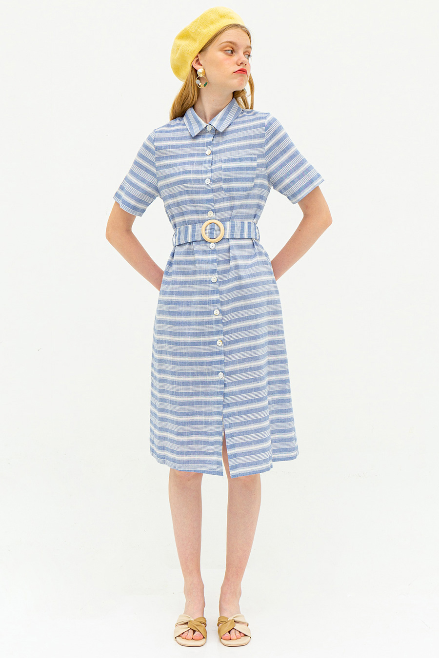 MAIDA DRESS - BREEZY STRIPE [BY MODPARADE]