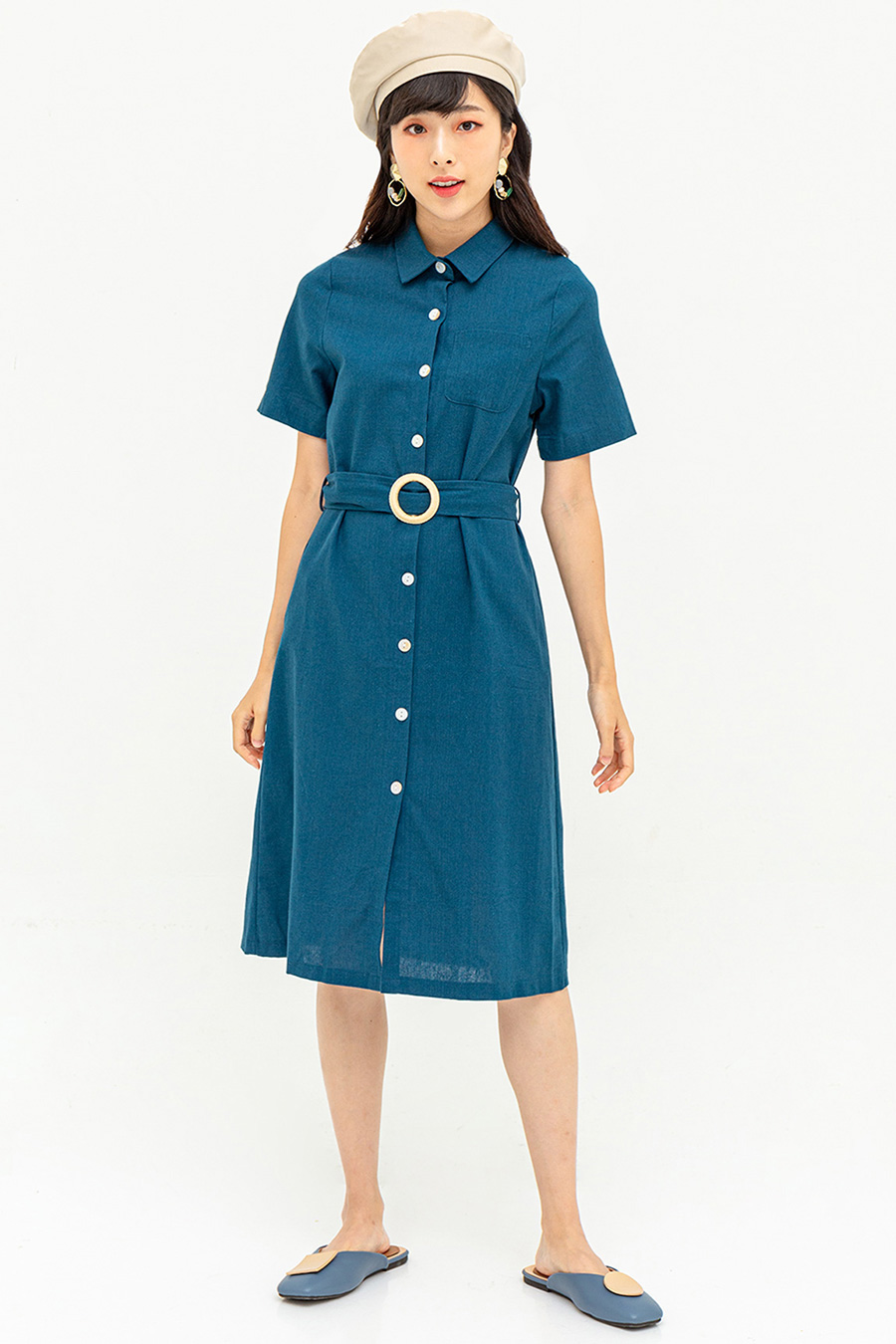 MAIDA DRESS - HAGUE BLUE  [BY MODPARADE]
