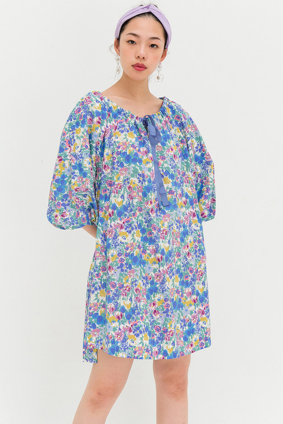 MARLENE DRESS - LAGOON FLEUR