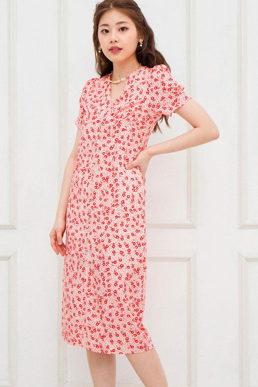MARLOWE DRESS - SORBET FLEUR