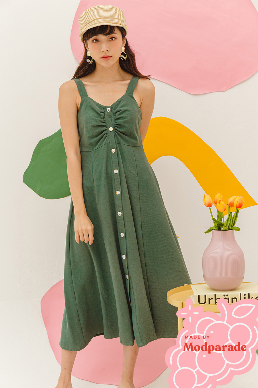 MARSTON DRESS - GARDEN GREEN [BY MODPARADE]