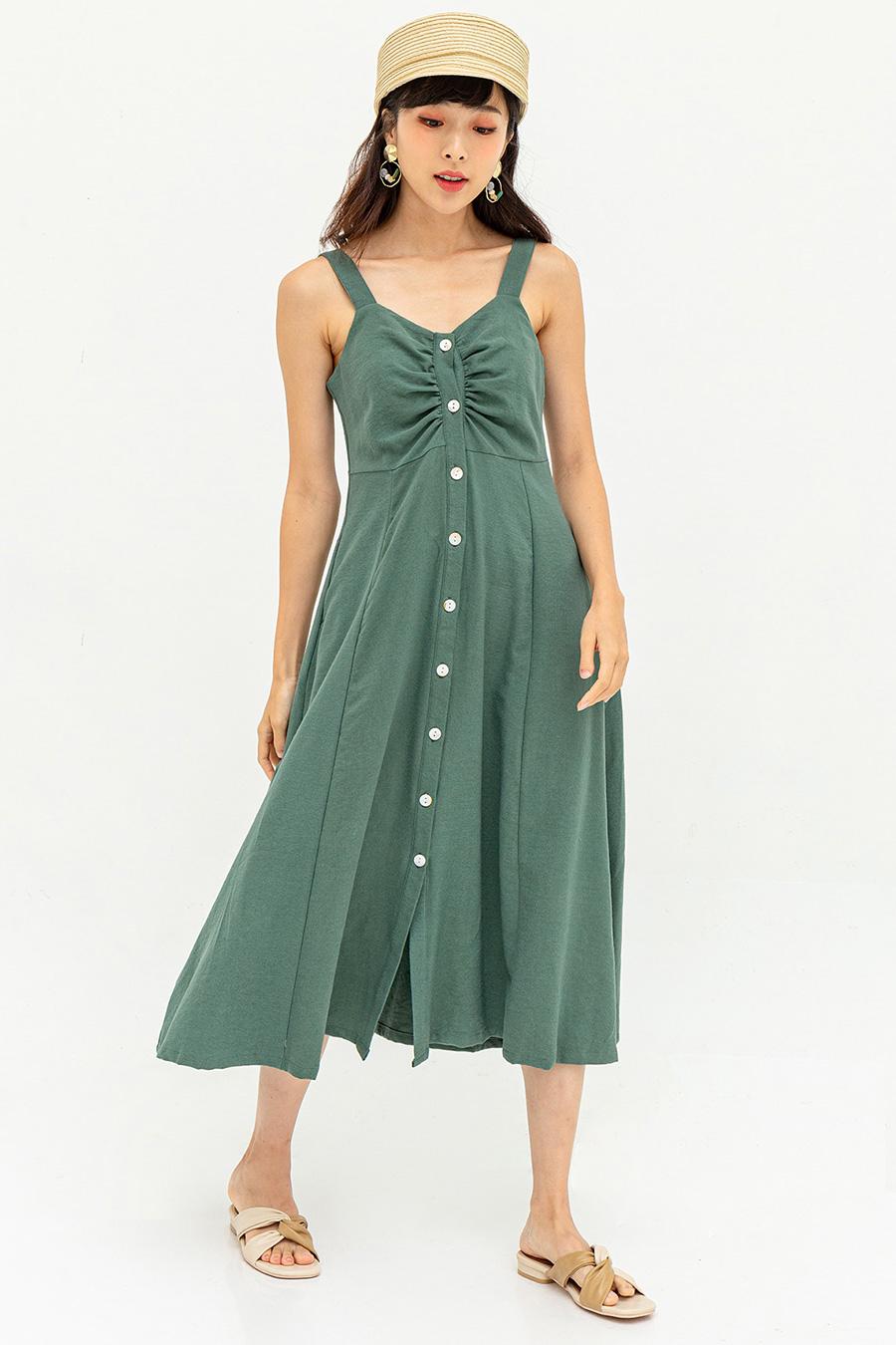 MARSTON DRESS - GARDEN GREEN [BY MODPARADE]