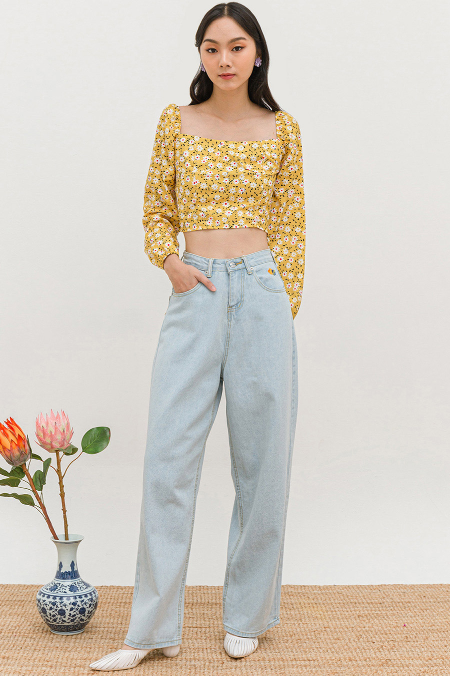 *RESTOCKED* MASAE PANTS - LIGHT WASH