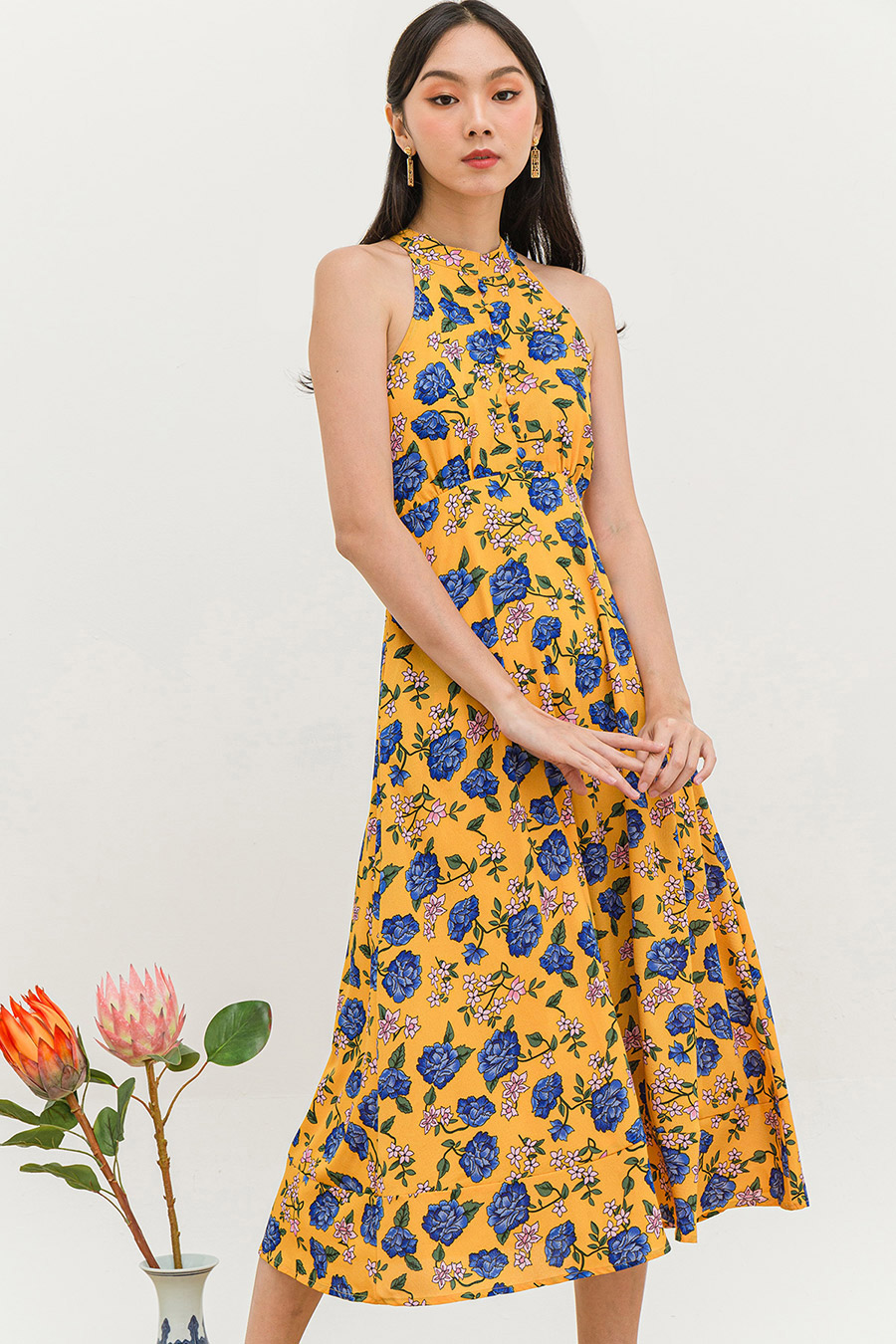 *SALE* MASSON DRESS - ORIENT PEONY [BY MODPARADE]