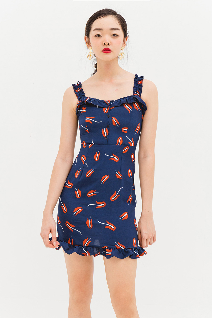 MATEO DRESS - NAVY TULIP