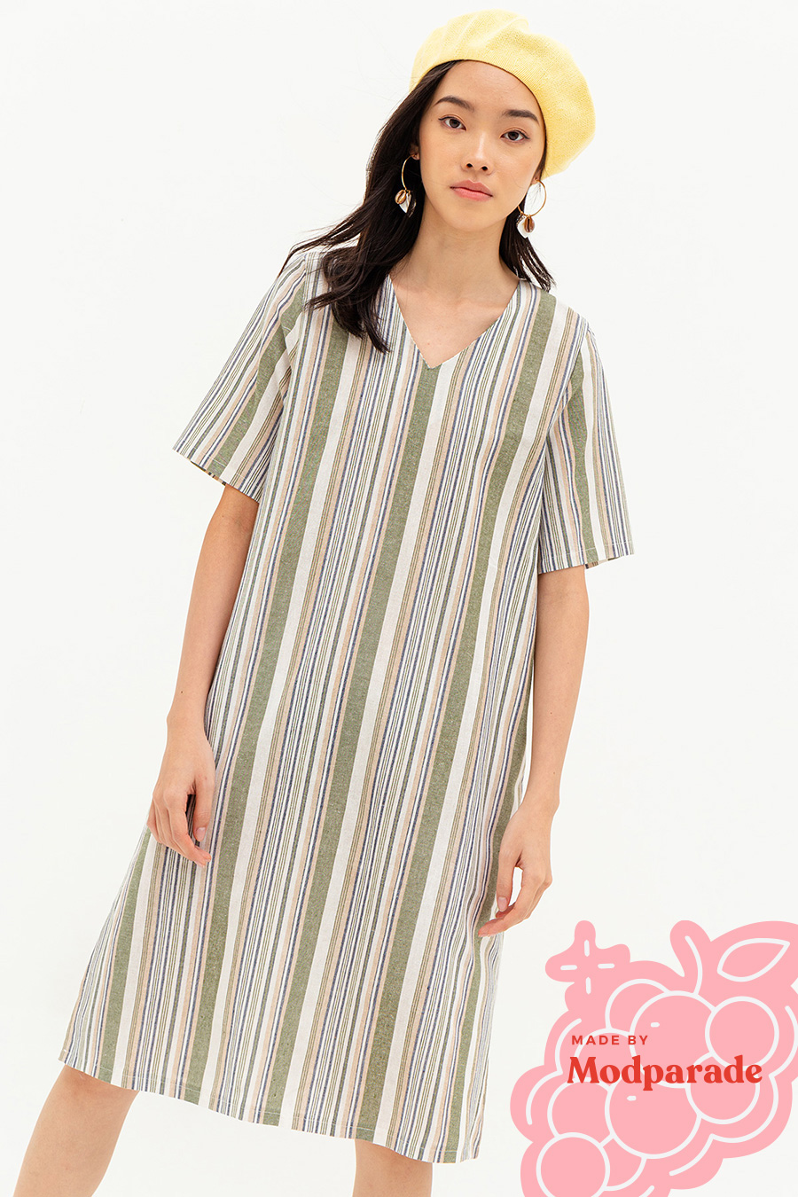 MATHILDA DRESS - ANDIE STRIPE [BY MODPARADE]