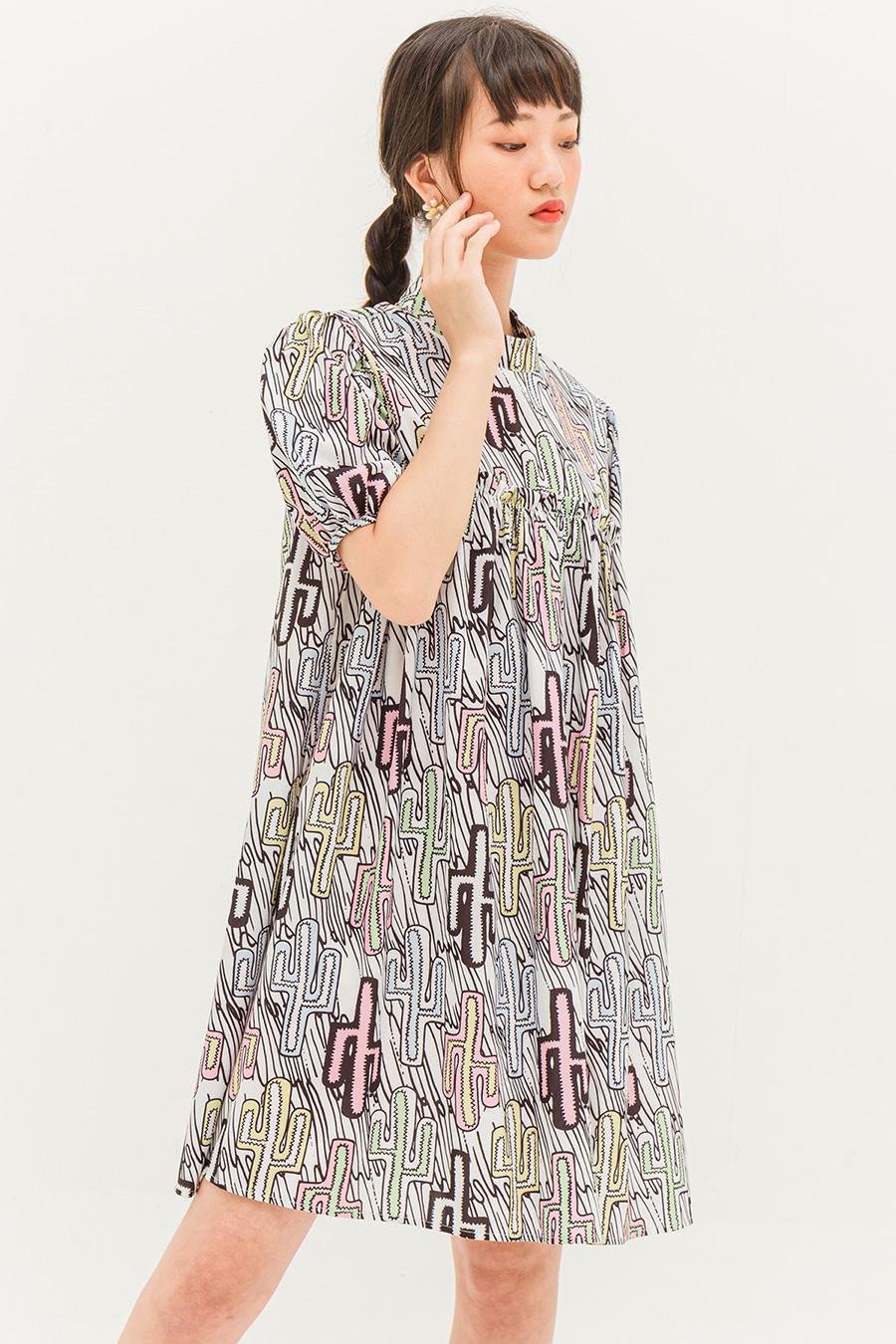 MAURINE DRESS - CACTUS