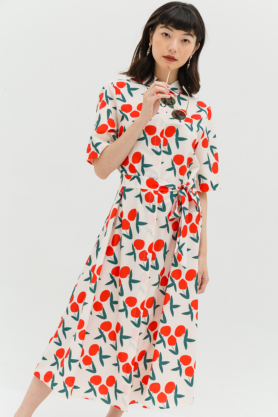 MELAINE DRESS - CHERRIES
