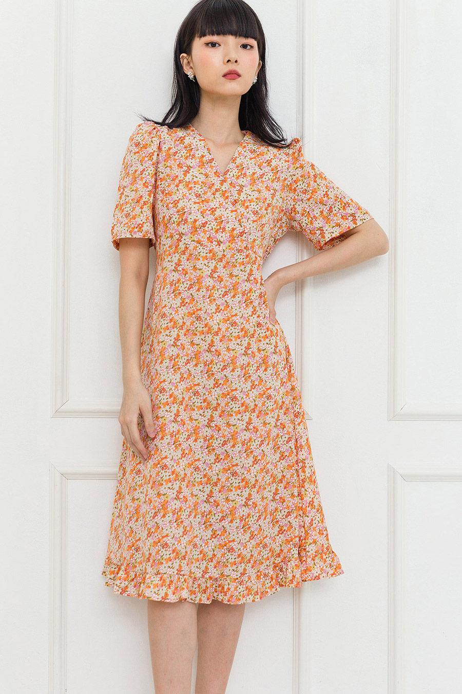 MELLIE DRESS - CAPRI FLEUR