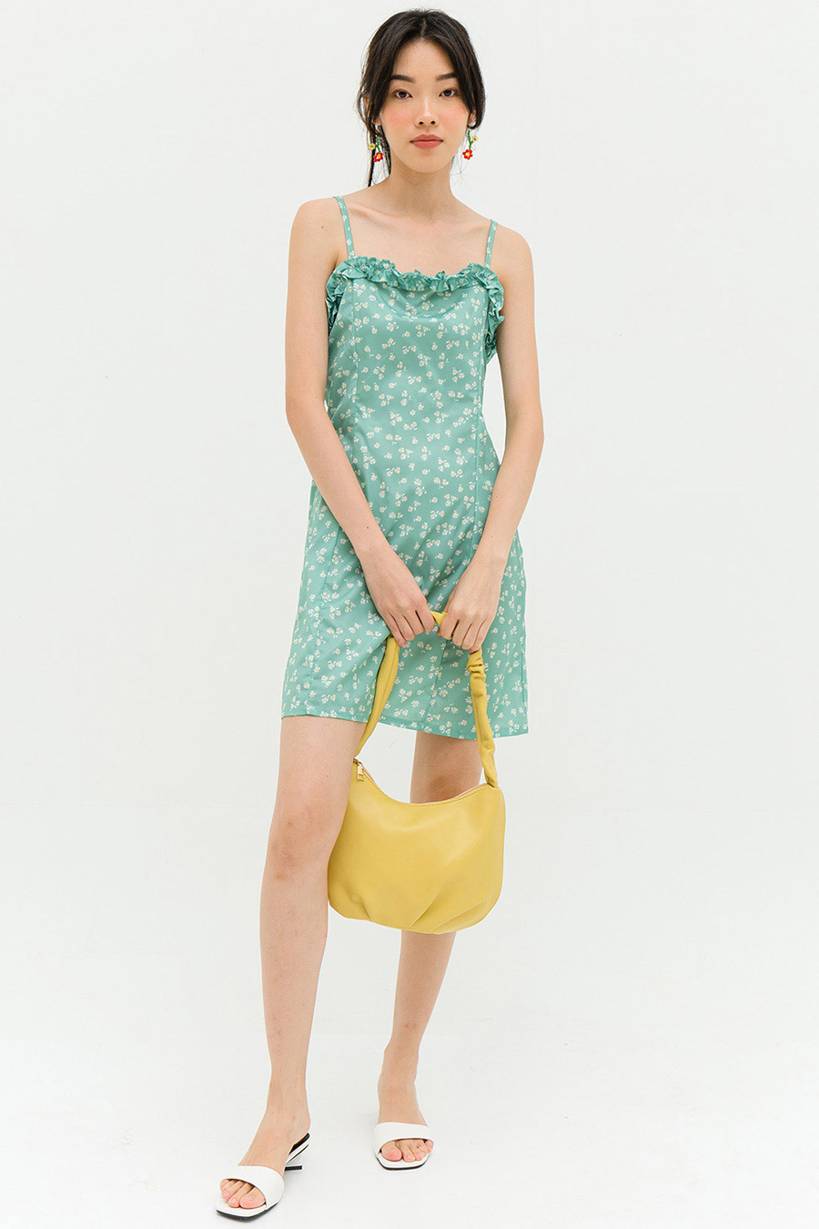 MELROSE DRESS - MINT TULIP