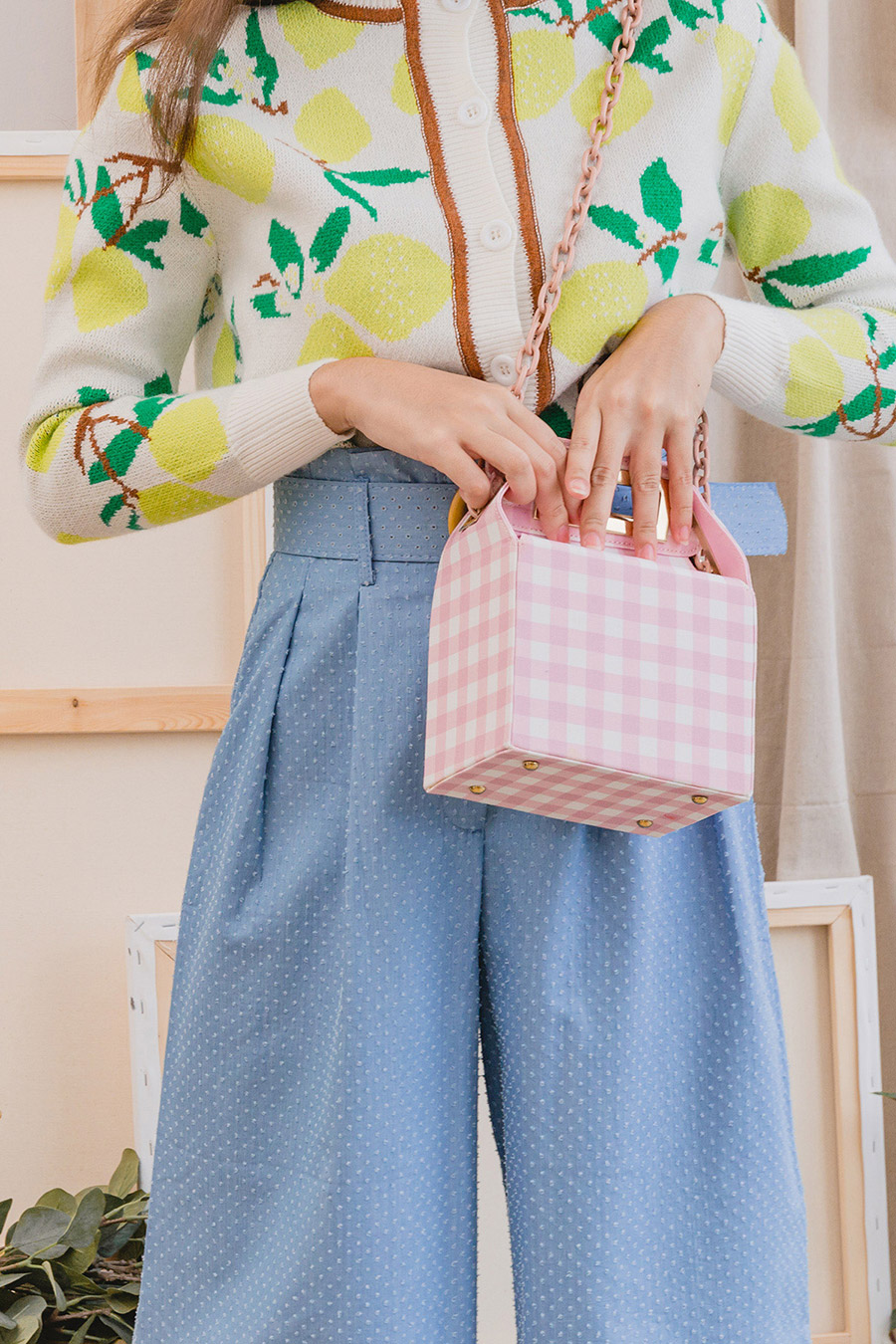 *BO* MILLER BAG - PUCE GINGHAM