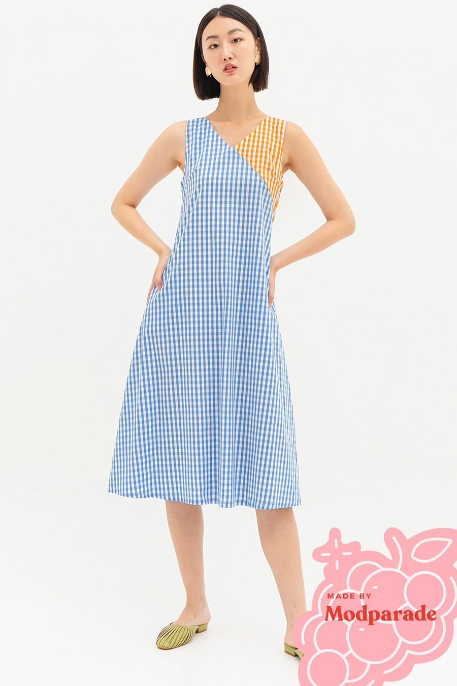 *SALE* MIRIAM DRESS - GINGHAM BLOCK [BY MODPARADE]