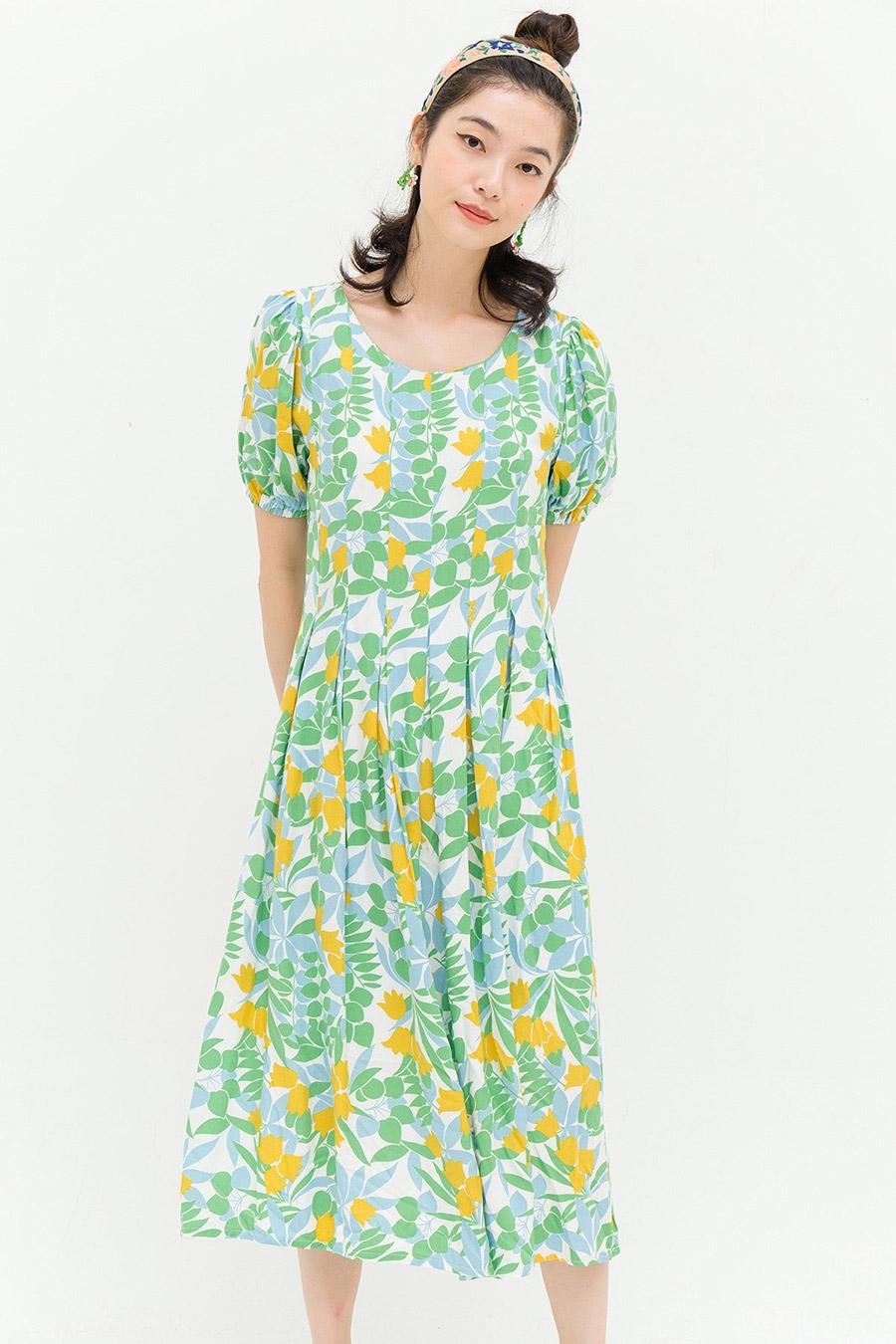 NAOMI DRESS - GARDEN FLEUR