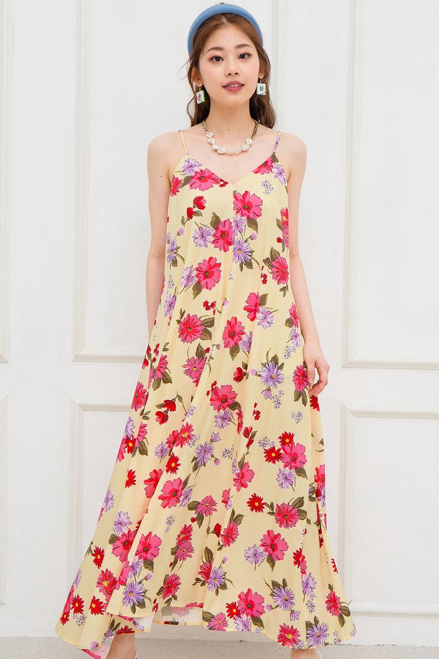NOEMIE DRESS - CREME FLEUR