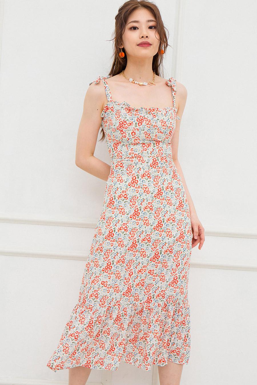NOYER DRESS - IVORY FLEUR