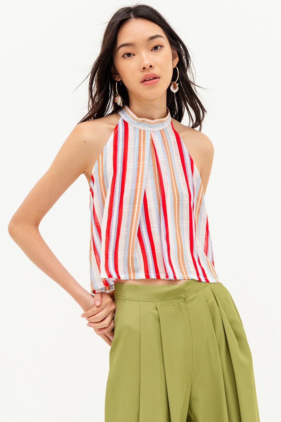 OCTAVIE TOP - NAPOLI STRIPE [BY MODPARADE]
