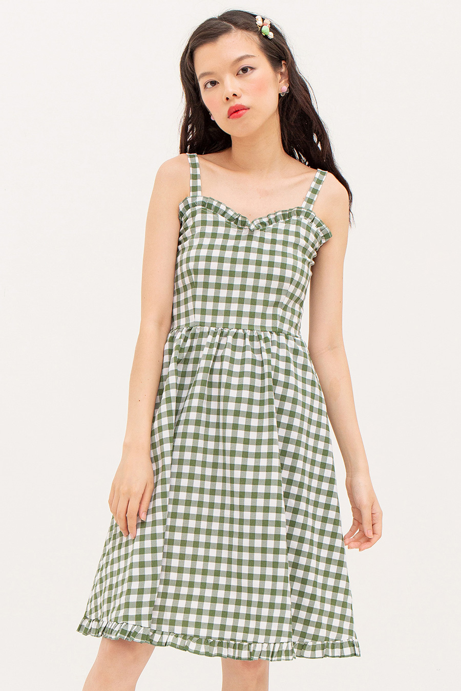 ODILE DRESS - GINGHAM