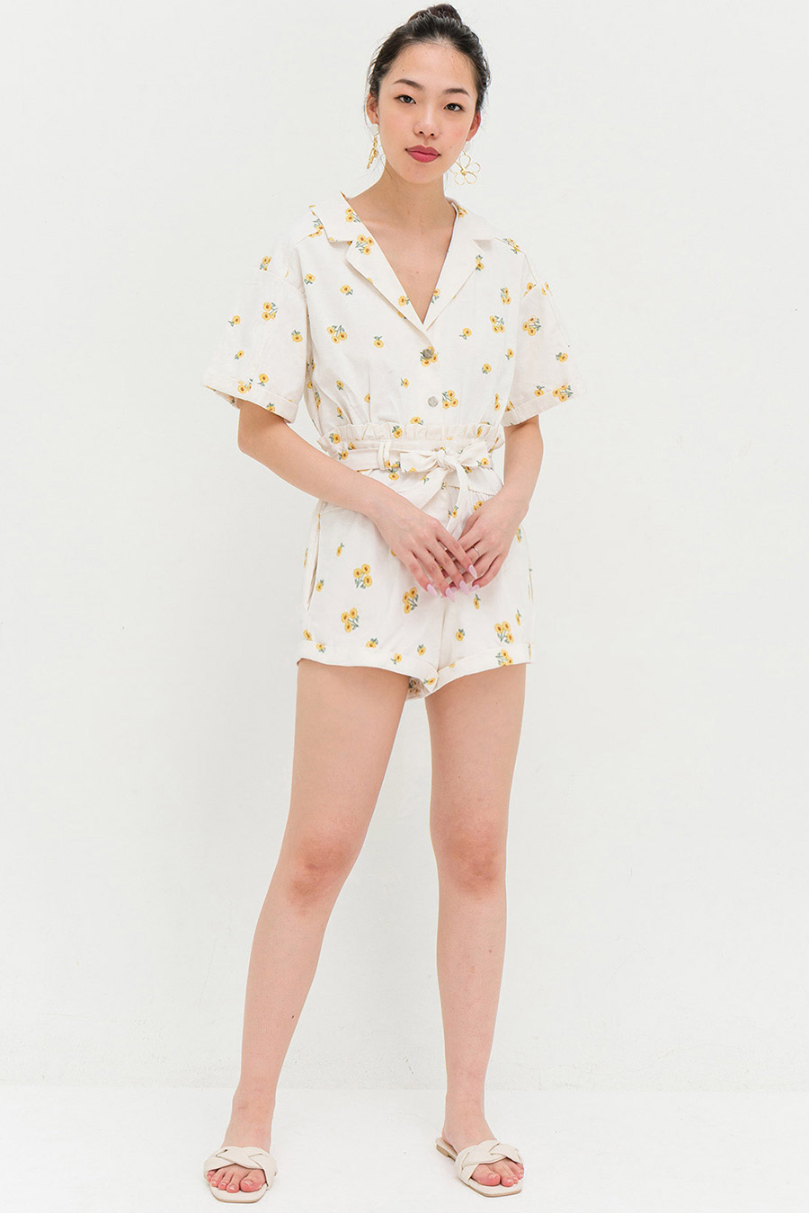 POLIVIA PLAYSUIT - SUNFLOWER
