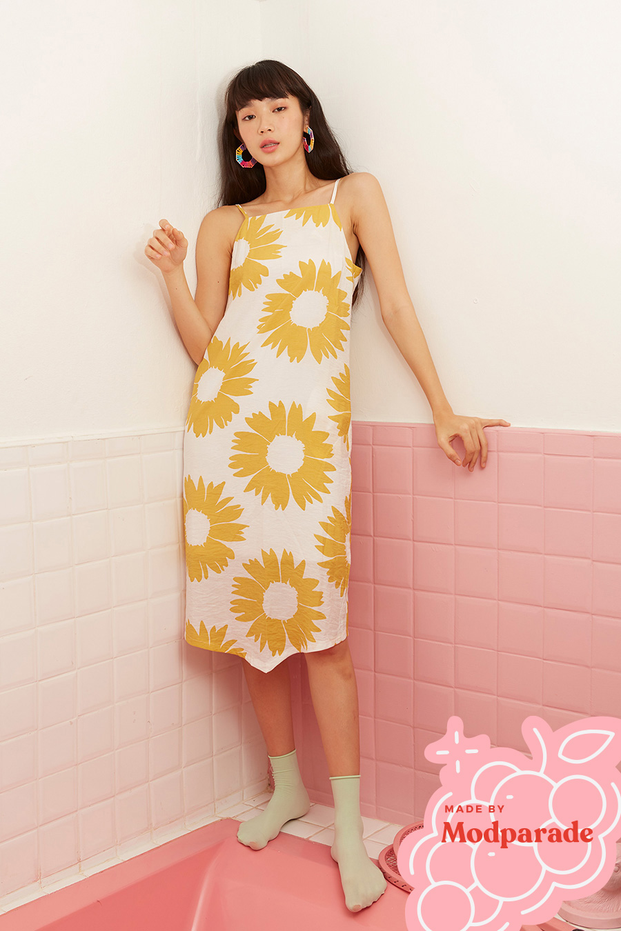 OLYMEA DRESS - SUNFLOWER [BY MODPARADE]