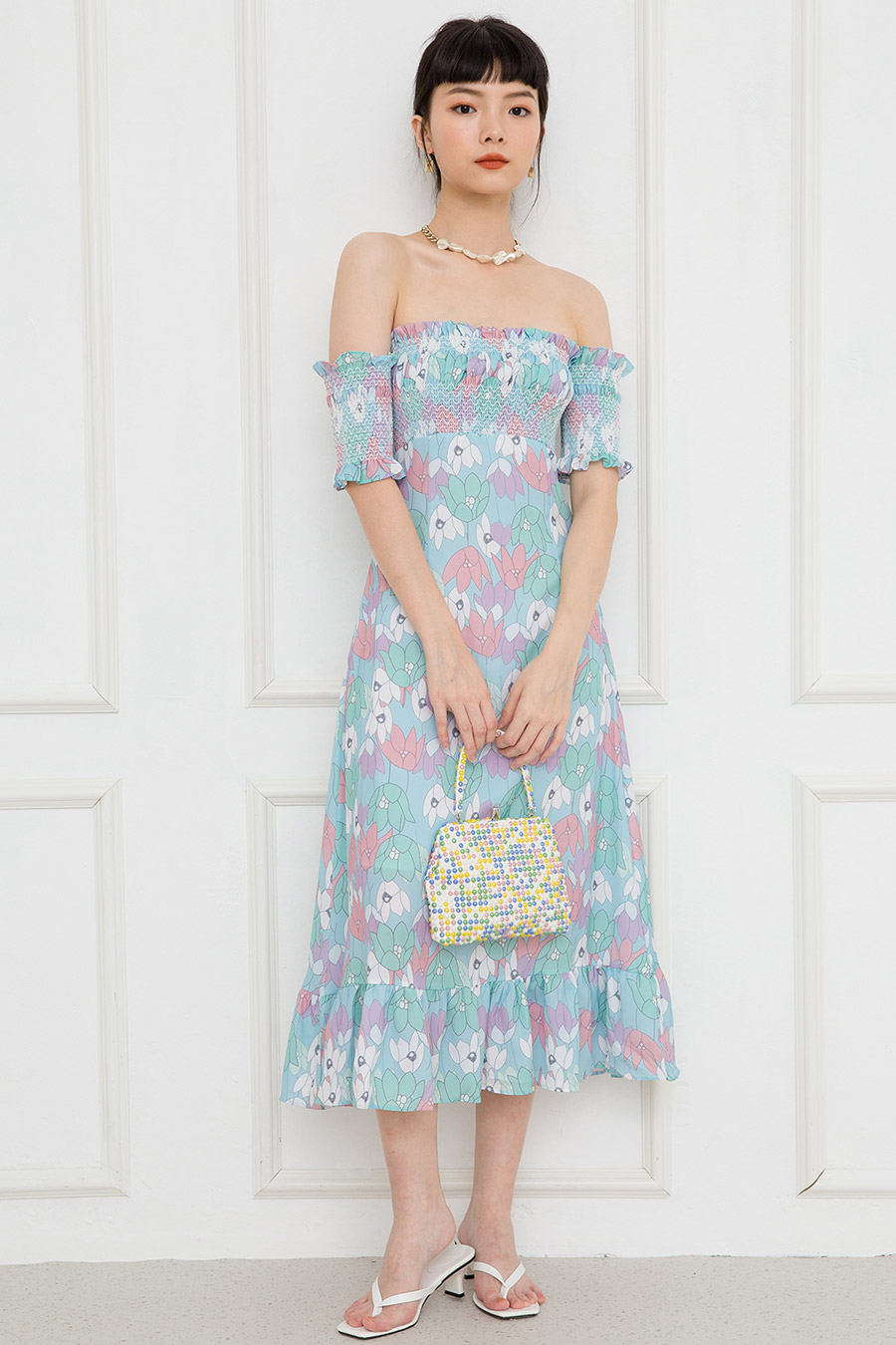 OZANNE DRESS - LAGOON FLEUR