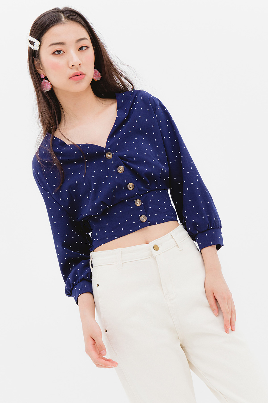 PAMA TOP - MIDNIGHT DOTTY