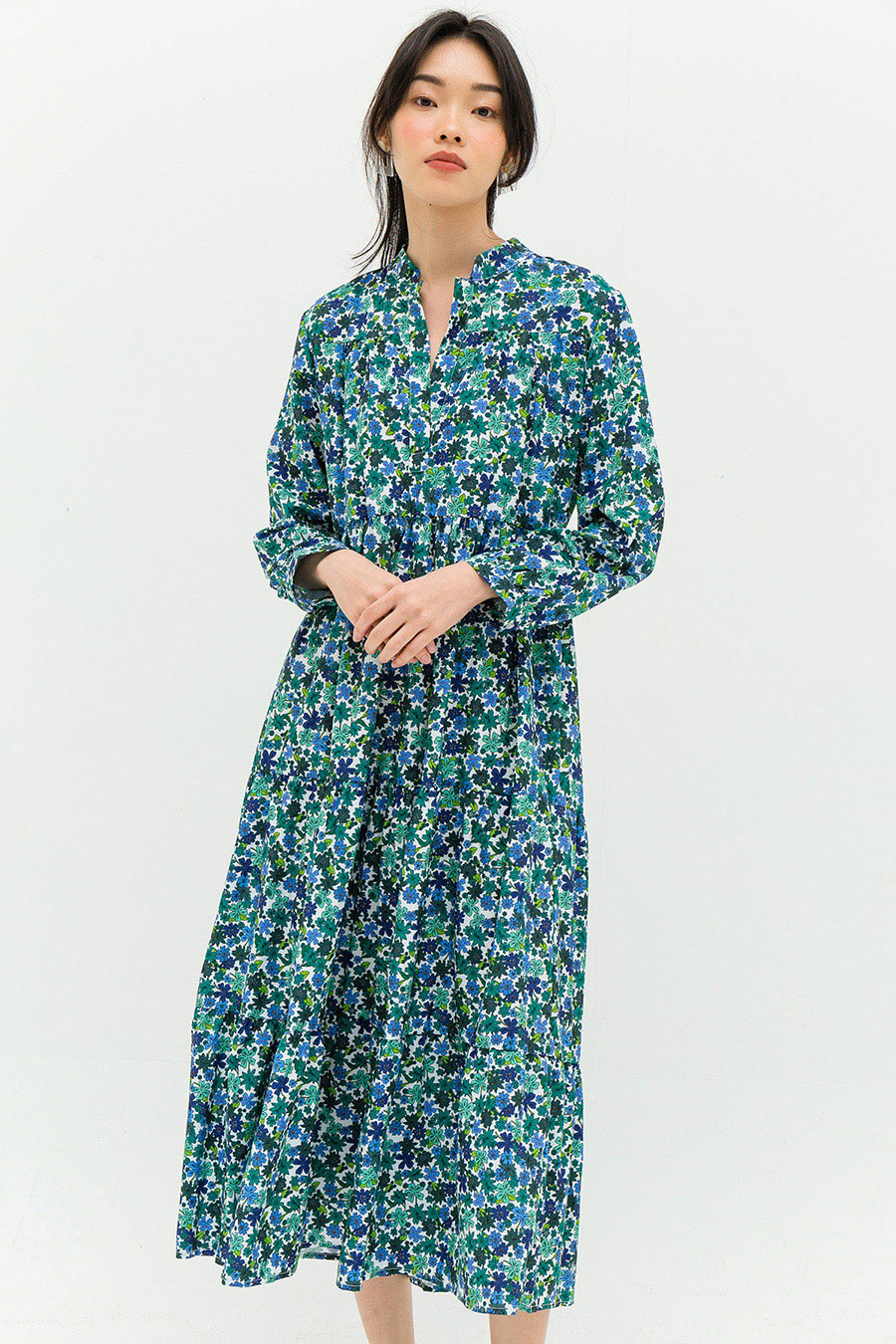 PASCAL DRESS - IGUANA GREEN